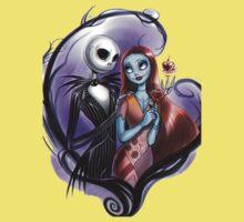 Romantic Jack Skellington and Sally One Piece - Short Sleeve