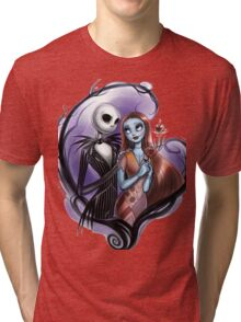 Romantic Jack Skellington and Sally Tri-blend T-Shirt