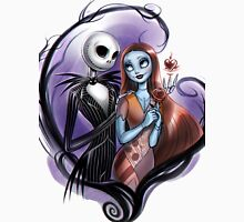 Romantic Jack Skellington and Sally Women's Fitted Scoop T-Shirt