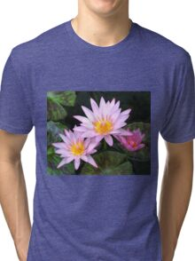 Water Lilies By The Harbour Tri-blend T-Shirt