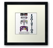 Nintendo Evolution Framed Print