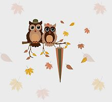 Cute owls (Autumn)  by tosnos