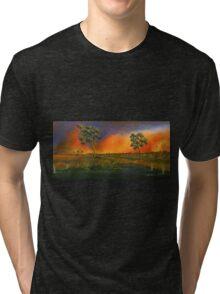 Western Sunset  Tri-blend T-Shirt