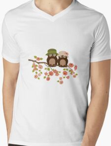 Cute owls (Spring)  Mens V-Neck T-Shirt