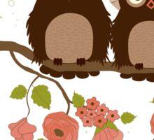 Cute owls (Spring)  Sticker