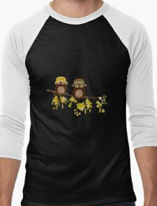Cute owls (Summer)  Men's Baseball ¾ T-Shirt