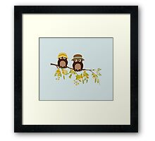 Cute owls (Summer)  Framed Print