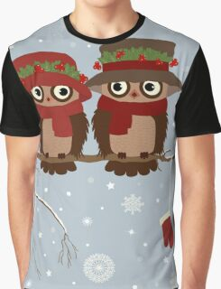 Cute owls (Winter) Graphic T-Shirt