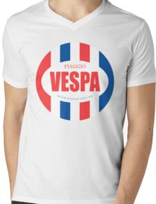 VESPA VINTAGE Mens V-Neck T-Shirt