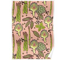 spring asparagus Poster