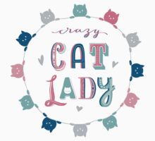 Crazy Cat Lady Kids Tee