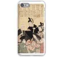 An updated version of the six poets - Toyokuni Utagawa - 1795 iPhone Case/Skin