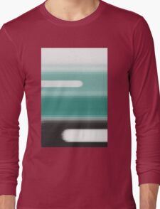 Green Abstract Long Sleeve T-Shirt