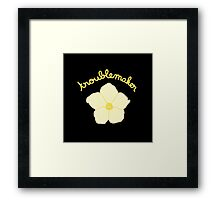 Troublemaker - Yellow Flower Framed Print