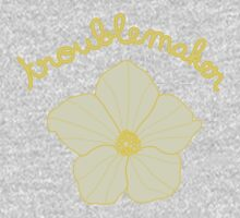 Troublemaker - Yellow Flower One Piece - Long Sleeve