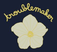 Troublemaker - Yellow Flower Kids Tee