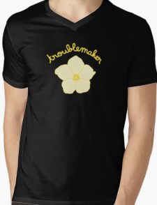 Troublemaker - Yellow Flower Mens V-Neck T-Shirt