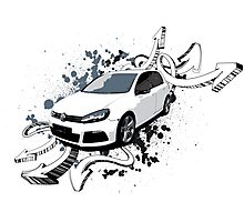 VW Golf R - Arrows paint splatter Photographic Print