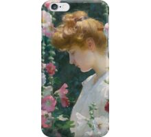 Charles Courtney Curran HOLLYHOCKS AND SUNLIGHT iPhone Case/Skin