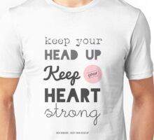 Song Lyrics Print, Ben Howard, Keep your Head up T-Shirt Unisex T-Shirt