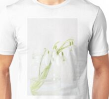 The stillness of snowdrops Unisex T-Shirt
