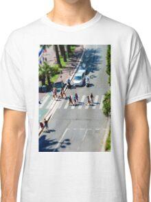 Pedestrian zebra across the street. Tilt shift view. Nice, France Classic T-Shirt