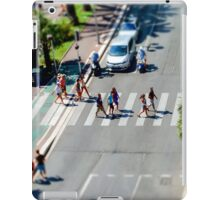Pedestrian zebra across the street. Tilt shift view. Nice, France iPad Case/Skin