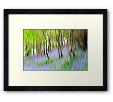 Abstract Bluebells Framed Print