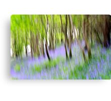 Abstract Bluebells Canvas Print