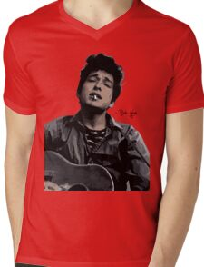 Bob Dylan Mens V-Neck T-Shirt