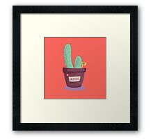 A little cactus Framed Print
