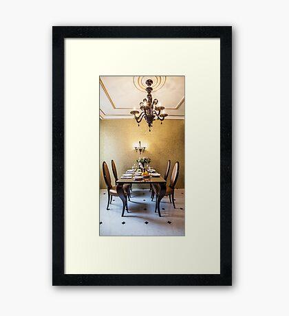 table setting  Framed Print