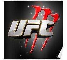 UFC whit Monster Energy Poster