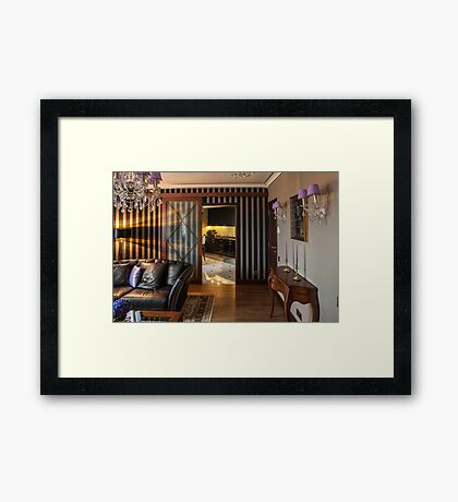 cozy home interior Framed Print