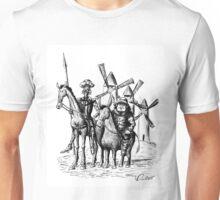 Don Quixote and Sancho Panza ink drawing Unisex T-Shirt