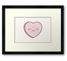 Pink Candy Heart Framed Print
