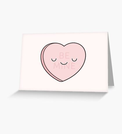 Pink Candy Heart Greeting Card