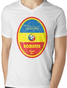 Euro 2016 Football - Romania Mens V-Neck T-Shirt