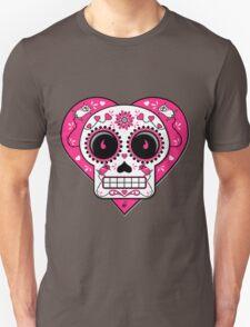 Valentine Sugar Skull Unisex T-Shirt