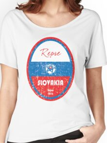 Euro 2016 Football - Slovakia Women's Relaxed Fit T-Shirt