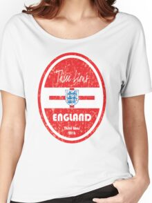 Euro 2016 Football - England Women's Relaxed Fit T-Shirt
