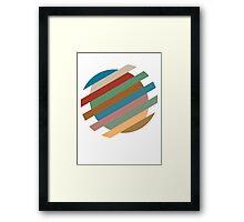 Circle Sliced Framed Print