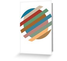 Circle Sliced Greeting Card