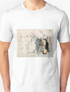 Four Cottonballs Blooming On A Willow - anon - 1814 - woodcut Unisex T-Shirt