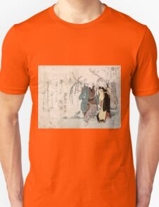 Four Cottonballs Blooming On A Willow - anon - 1814 - woodcut T-Shirt