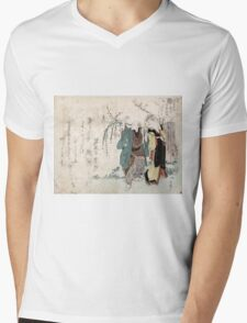 Four Cottonballs Blooming On A Willow - anon - 1814 - woodcut Mens V-Neck T-Shirt