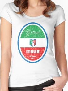 Euro 2016 Football - Italia Women's Fitted Scoop T-Shirt