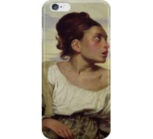 EUGENE DELACROIX, , YOUNG ORPHAN IN THE CEMETERY iPhone Case/Skin