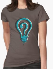 questioning design concept Womens Fitted T-Shirt