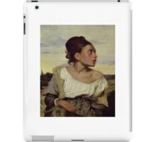 EUGENE DELACROIX, , YOUNG ORPHAN IN THE CEMETERY iPad Case/Skin
